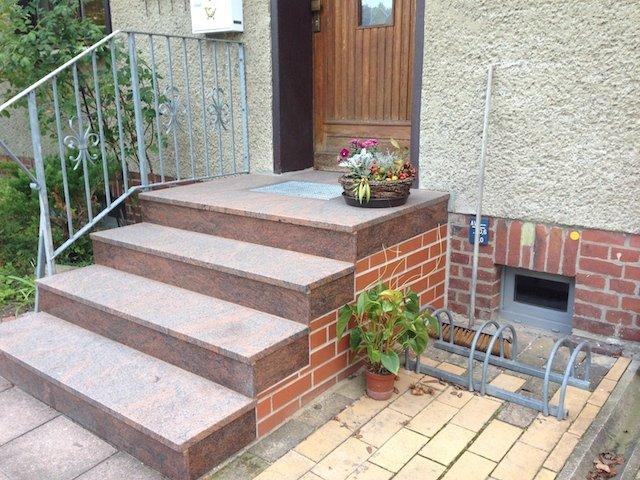 Treppenanlage Granit Multicolor