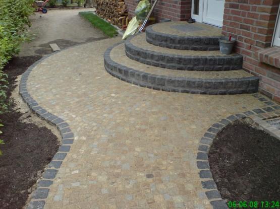 Granit Mosaikpflaster und Basalt Kleinpflaster