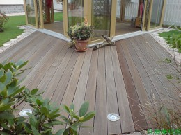 Aussenanlage Bangkirai Holz Terrasse EHL Poligono Concord Potsdam