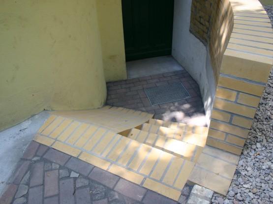 Rechteck Pflaster Bernburger Mosaikpflaster Klinkermauerwerk